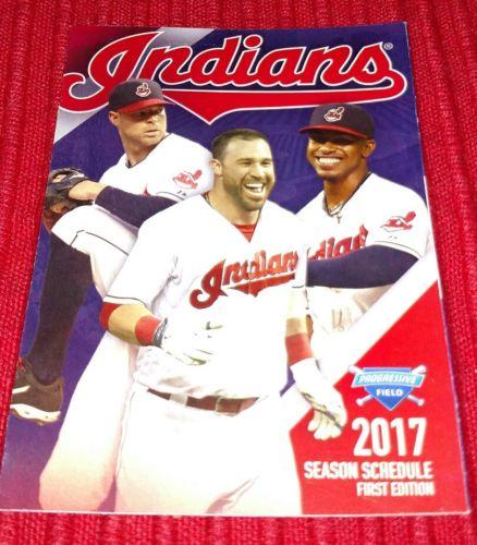 Cleveland Indians 2017 Schedule 1st Edition Lindor, Kipnis, Kluber