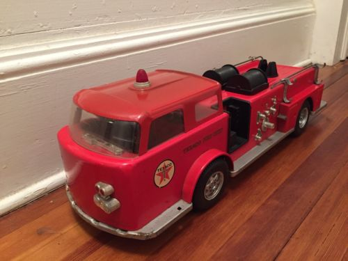 VINTAGE BUDDY L WEN MAC AMERICAN LAFRANCE TEXACO STEEL FIRE TRUCK ENGINE!!