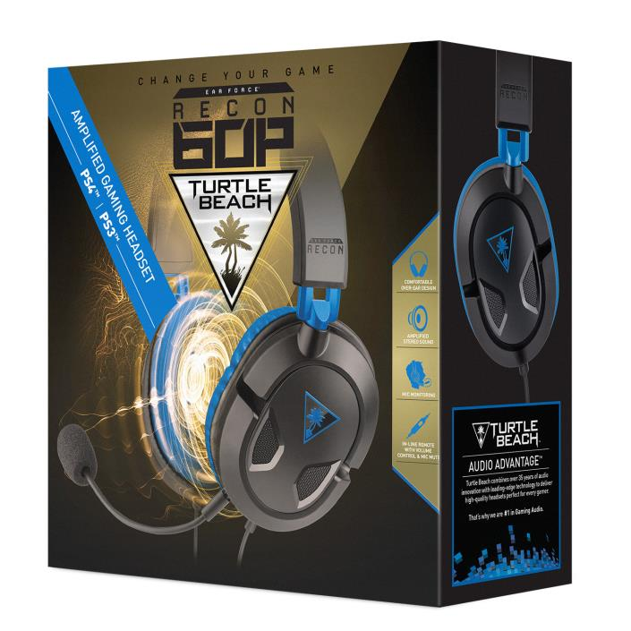 Ear Force Recon 60P PS4 Headset PS4 Black - Turtle Beach [Brand New]