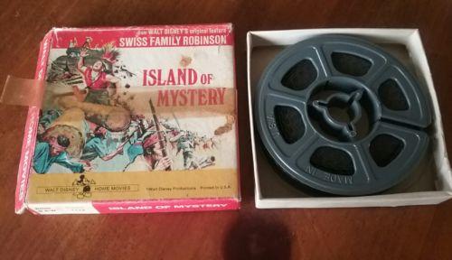 Vintage Walt Disney Island of Mystery 8 MM Super 8 FILM