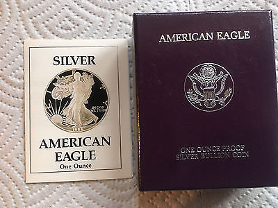 1988 S SILVER EAGLE PROOF