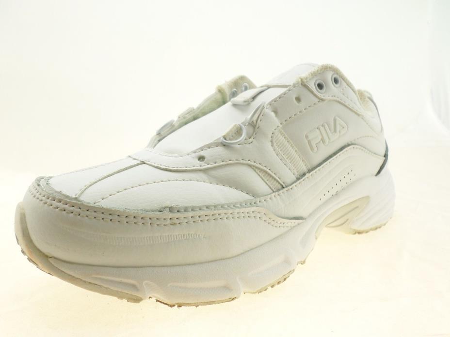 Fila Memory Workshift Womens Slip-Resistant Athletic Shoes White Size 6 W
