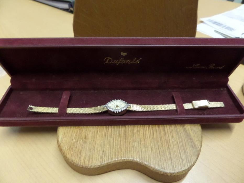 DUFONTE DIAMOND COLLECTION LADIES VINTAGE GOLD WRISTWATCH BOXED