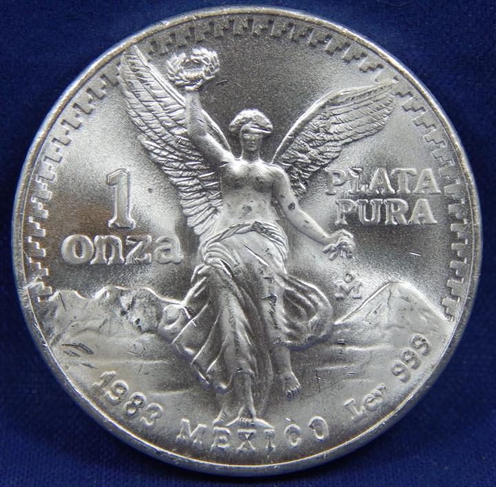 1983 1 UN ONZA LIBERTAD MEXICO SILVER BU TRIPLE DIE REVERSE TDR TDO ULTRA RARITY