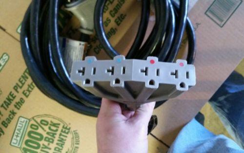 Briggs and Stratton 25' heavy duty Generator drop Cord 4 120v plugs 4800 Watts