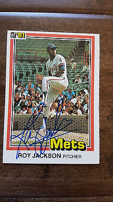 1981 DONRUSS SIGNED ROOKIE CARD ROY LEE JACKSON NEW YORK METS JAY TWINS PADRE 36
