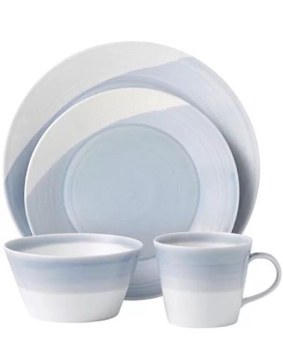 Royal Doulton 12 Pc Service For 3 Dinnerware Set Blue