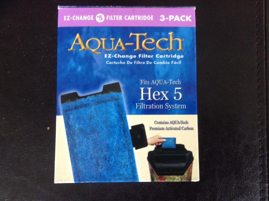 Aqua-Tech EZ change #5 filter cartridge 3 pack fits HEX 5
