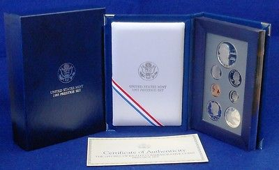 1993-S BILL OF RIGHTS COMMEMORATIVES PRESTIGE SET...7 COINS...WITH OGP...COA