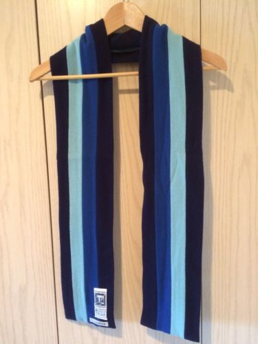 Jack Spade blue navy woolen scarf made in England