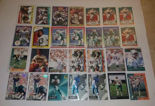 DAN MARINO FOOTBALL CARD LOT (LOT OF x79 CARDS)