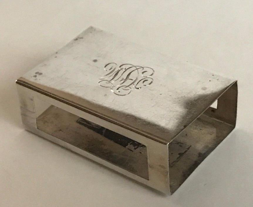 Sterling Silver Match Box Cover by George Henckel