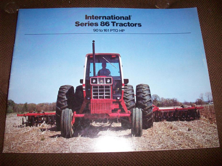 International 86 Series Tractor Brochure 1586 1486 1086 986 886 Hydro 186 Nice