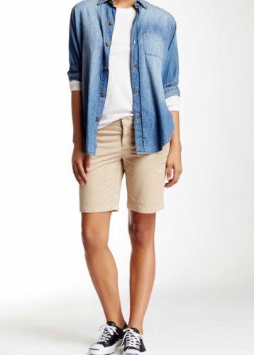 Caslon Woman's Size 16 Tan Oxford Bermuda Shorts NWT