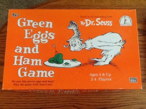 Green Eggs And Ham Board Game By Dr. Seuss 1996