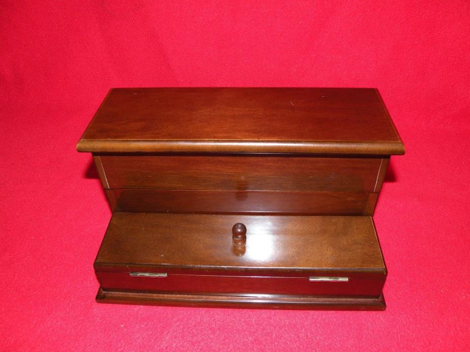 The Bombay Company Mens Wood Valet Jewelry Box (8162)