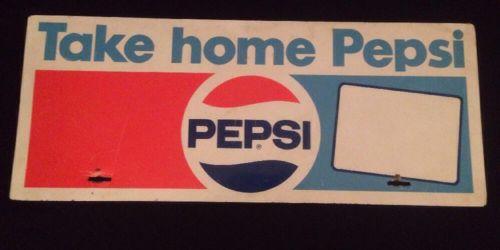Original Vintage Take Home Pepsi Store Advertising Metal Store Display Sign