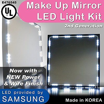Lighted Vanity Mirrors Crystal Vision Make up Mirror LED Light Kit Provided by w