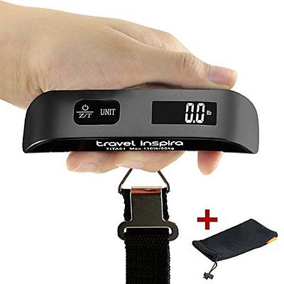 Travel Luggage Scales Inspira Digital Hanging Postal Luggage Scale Rubber Paint