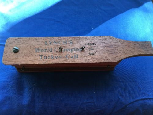 1958 Lynch World Champion Two Sided Box Call Imitates Both Hen & Gobbler, 102