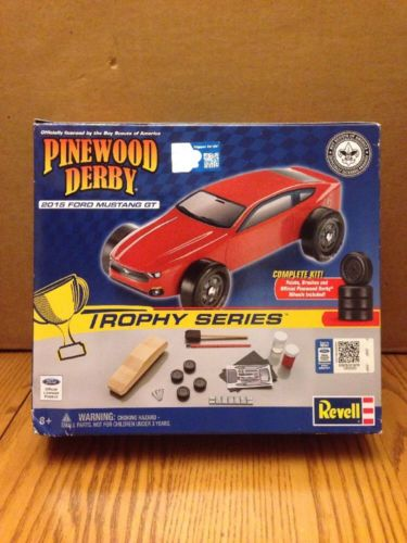 Pinewood Derby 2015 Ford Mustang GT Racer Kit RMXY419 Boy Scouts Revell
