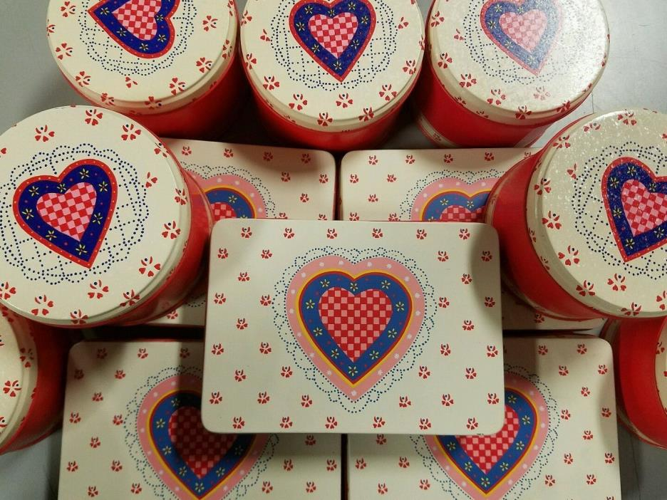 Heart Tins New Square or Round Valentines Day!!