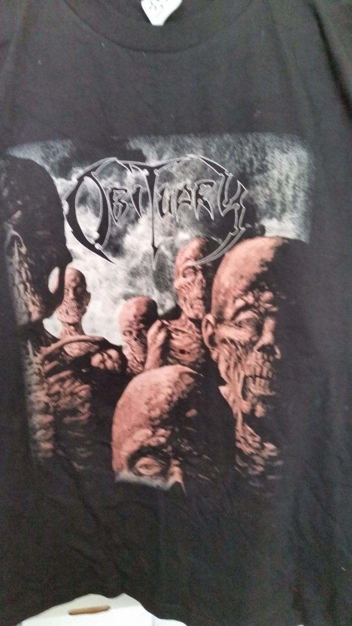 OBITUARY 1997 Back From the Dead vintage licensed concert tour shirt New XL