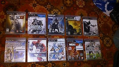 10 ps3 games Destiny, batman, ghost recon
