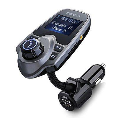 Car Bluetooth Fm Transmitter Kit Usb Mp3 Player Wireless Charger Radio Lcd