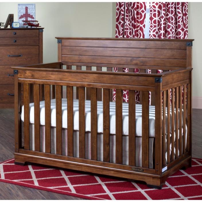 Redmond Cherry Finish Convertible Baby Crib Toddler Bed