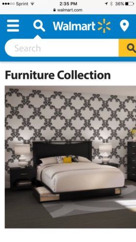 Soho South Shore Bed & Headboard & side Table All New In Box