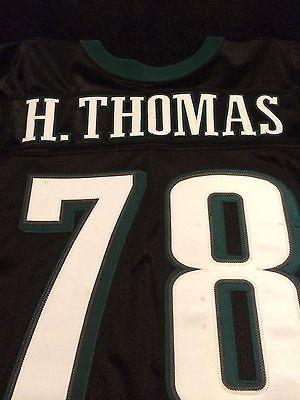 HOLLIS THOMAS PHILADELPHIA EAGLES 2003 BLACK GAME USED WORN JERSEY # 78