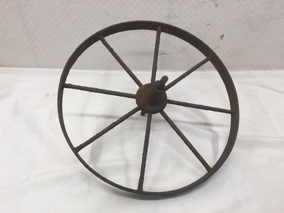 Vtg/Antique Wagon/Farm Machine/Cart/Tractor Wheel Yard/Barn Art