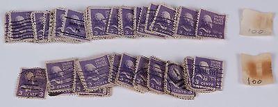 Lot of 200 3-cent Purple Thomas Jefferson stamps