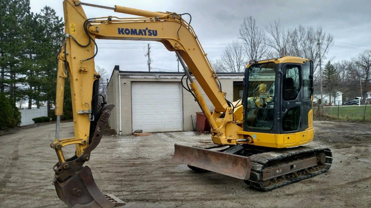 2012 Komatsu PC88MR-8 Midi Excavator Dozer Blade Long Arm Street Pads 2894 hours