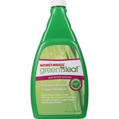 Natures Carpet Machine Detergents Miracle Green Leaf Hydorgen Perozide Carpet 24
