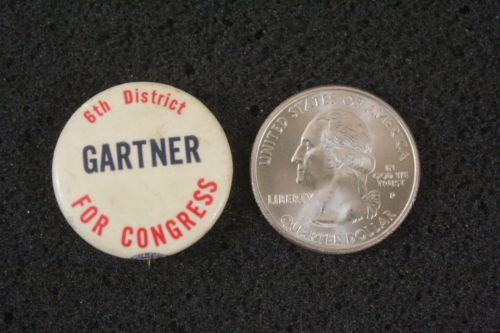1950's Fred Gartner For Congress Pennsylvania 6th Dist. Hat Lapel Pinback Button