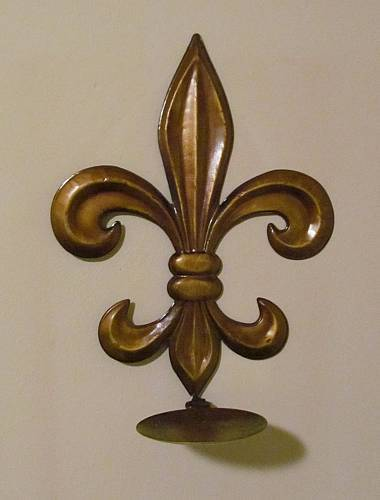 French Fleur-de-Lis Wall Candle Holder 13x9.75