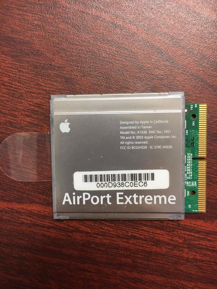 Apple A1026 AirPort Extreme Card For G4 G5 iBook iMac PowerBook PowerMac