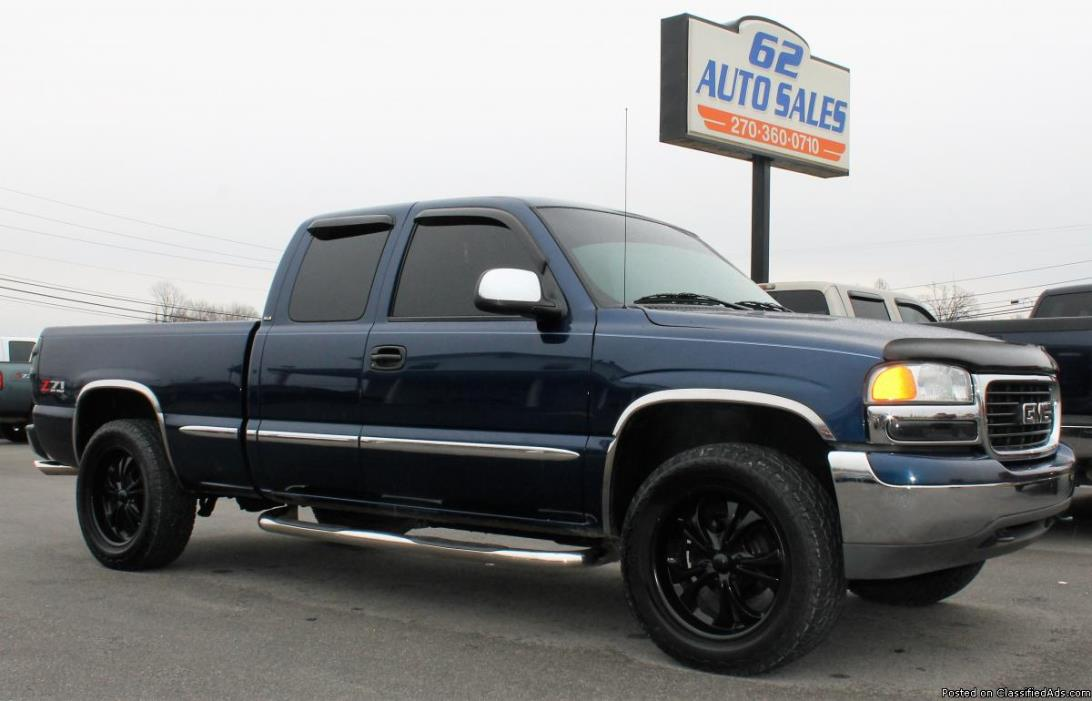 2002 GMC Sierra 1500 SLE Ext Cab 4x4 Extra Nice Customized Truck