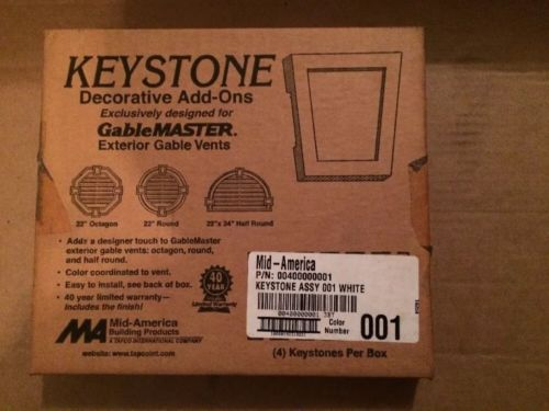 Gable Master Decorative Keystones For Exterior Vents Pack of 4.