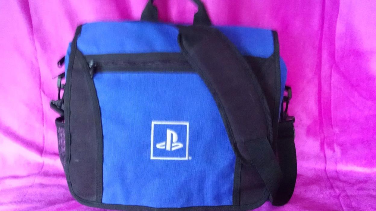 ? PLAYSTATION BLUE MESSENGER BAG Travel Padded Protection Gear SONY PSP ?