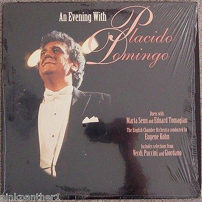 An Evening with PLACIDO DOMINGO  Marta SENN 1987 Wembley Arena  London Laserdisc
