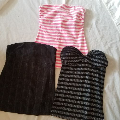 women's size large tube tops mixed lot