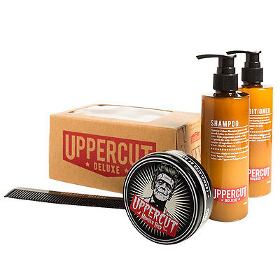 UPPERCUT MONSTER HOLD Shampoo Conditioner & Comb Combo Pack NEW