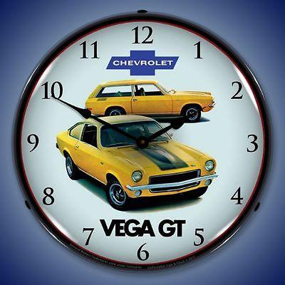 New 1971 Chevrolet Vega GT old car LIGHT UP clock JEGA Free Ship + USA Made
