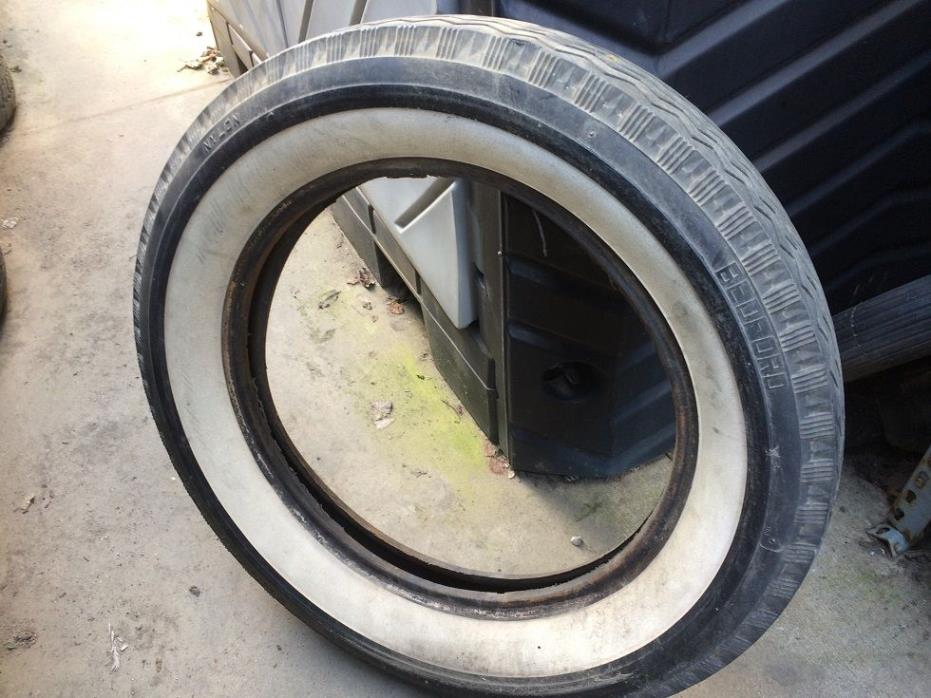 BEDFORD 5.25 5.50-18 Vintage Bias 4 Ply Whitewall Classic Antique Tires