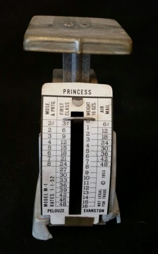 Vintage Princess Postage Meter, starts with 2 cents/ 3 cents 1st Class postage