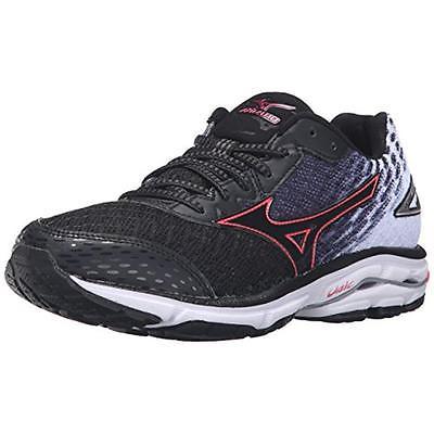 Mizuno 6243 Womens Wave Rider 19 Black Running Shoes 7 Medium (B,M) BHFO