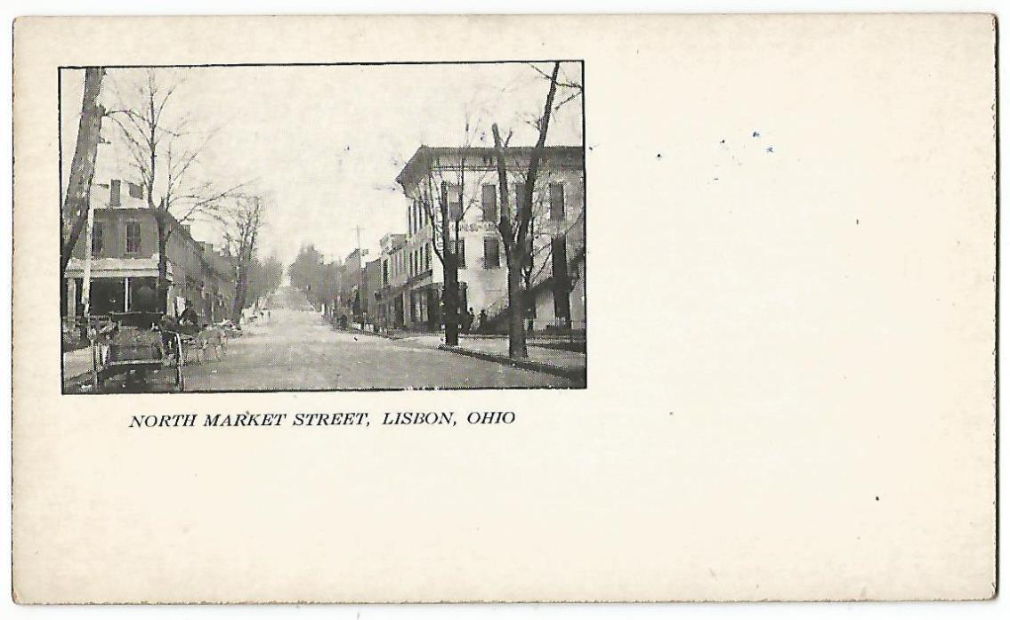 Lisbon Ohio OH (Columbiana County) North Market Street c.1904